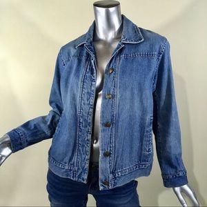 Talbots Petite Small Blue Jean Denim Jacket